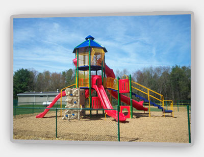 Completed playground installation